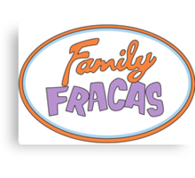 Family Fracas Canvas Print