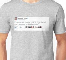 Trump Tweet: Global Warming Unisex T-Shirt
