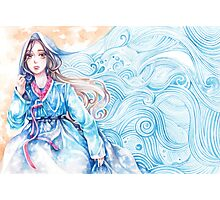 Wavediver - Korean Hanbok Fairytale Manga Illustration Pattern Photographic Print
