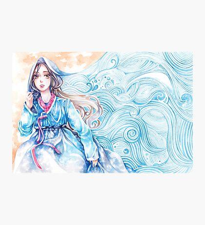 Wavediver - Korean Hanbok Fairytale Manga Illustration Pattern Photographic Print