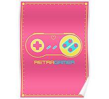 Retra Gamer - SNES Controller Poster