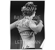 Drew Barrymore Flashes David Letterman Poster