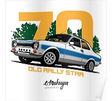 Ford Escort RS1600 (white) Poster