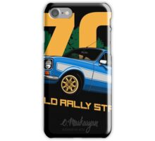 Ford Escort RS1600 (blue) iPhone Case/Skin