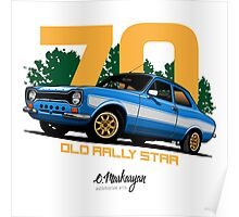 Ford Escort RS1600 (blue) Poster