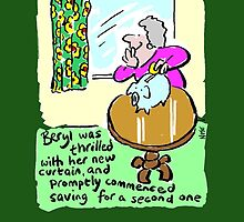 Cartoon - Beryl's New Curtain. by Nigel Sutherland