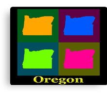 Colorful Oregon Pop Art Map Canvas Print