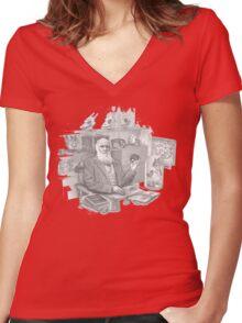 Pokemon Doctor Women's Fitted V-Neck T-Shirt