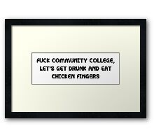 Trailer Park Community College Framed Print