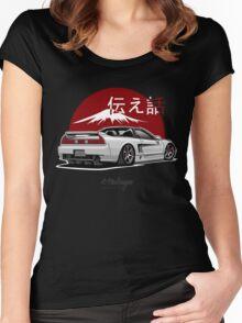 Acura / Honda NSX (white) Women's Fitted Scoop T-Shirt