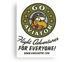 GoAviator - Flight Adventures for Everyone (No Wings) Canvas Print