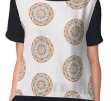 Opalescent mandala white Chiffon Top