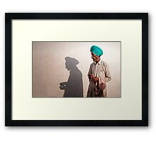 The Shadow of a Man Framed Print