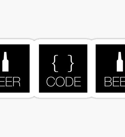 beer. code. beer. Sticker