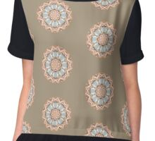 Opalescent mandala gold Chiffon Top