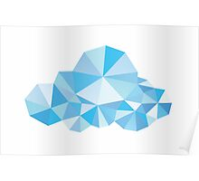 Diamond Clouds in the Sky Pattern Poster