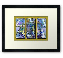 Geocity Framed Print