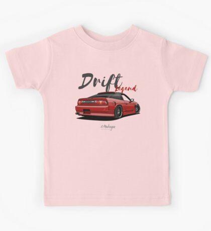 Nissan Silvia S13, 200SX, 240SX (red) Kids Tee
