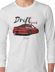 Nissan Silvia S13, 200SX, 240SX (red) Long Sleeve T-Shirt