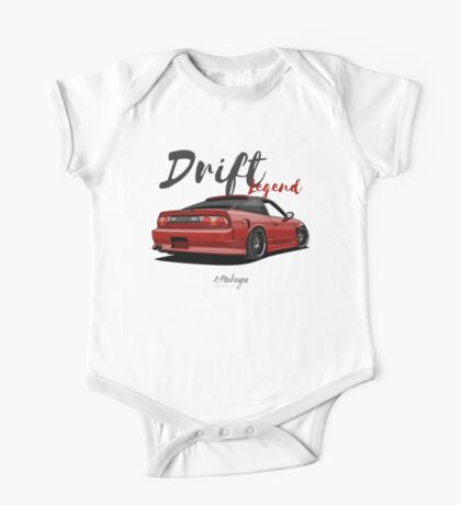 Nissan Silvia S13, 200SX, 240SX (red) One Piece - Short Sleeve