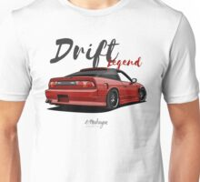 Nissan Silvia S13, 200SX, 240SX (red) Unisex T-Shirt