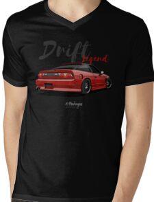 Nissan Silvia S13, 200SX, 240SX (red) Mens V-Neck T-Shirt