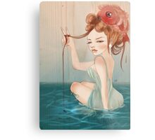 Drawing Day  | Girl 64 : The other fish in the sea Metal Print