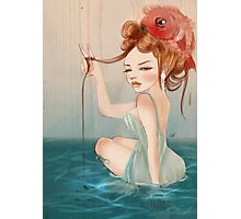Drawing Day  | Girl 64 : The other fish in the sea Photographic Print