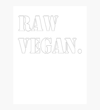 Raw Vegan Photographic Print