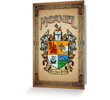 McDaniel coat of arms Greeting Card