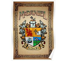 McDaniel coat of arms Poster