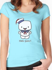 Hello Sailor! Women's Fitted Scoop T-Shirt