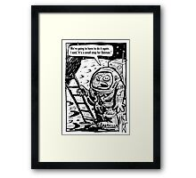 A Small Step for a Man Framed Print