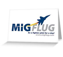 MiGFlug - Be a Fighter Pilot for a Day Greeting Card