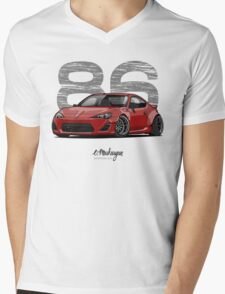 Toyota GT86 (red) Mens V-Neck T-Shirt