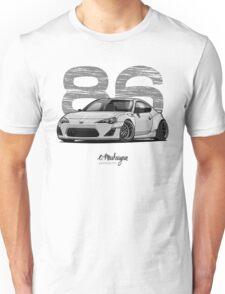 Toyota GT86 (white/grey) Unisex T-Shirt