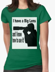 Big Lens Womens Fitted T-Shirt