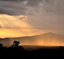 Misty Sunset on Mt. Longonot by TomLEP