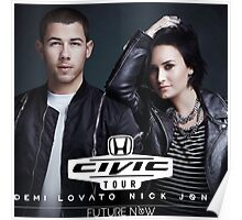 Future Now Demi Lovato Nick Jonas Honda Civic The Tour 2016 ANMERT05 Poster