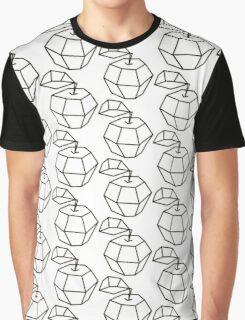 apple. polygonal design black and white drawing Graphic T-Shirt