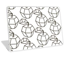 apple. polygonal design black and white drawing Laptop Skin