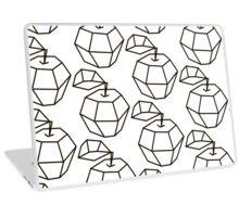 apple. polygonal design black and white drawing Laptop Skin