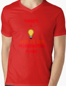 There's a Light (T-Shirt & Sticker) Mens V-Neck T-Shirt