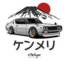 Nissan Skyline GTR Kenmeri (white) Photographic Print