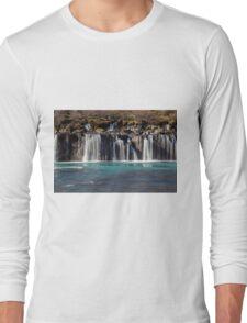 Bjarnafoss waterfall Long Sleeve T-Shirt