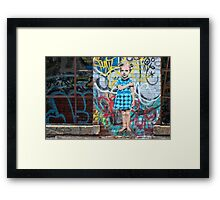 In a Tagged World Framed Print