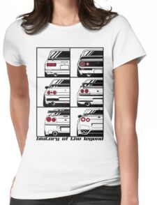 Nissan Skyline. History Womens Fitted T-Shirt