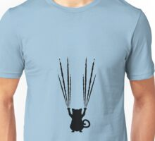 Black Cat Silhouette with Scratches 4 Unisex T-Shirt