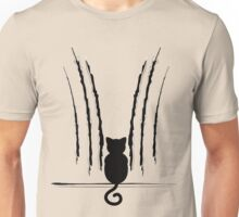 Black Cat Silhouette with Scratches 5 Unisex T-Shirt