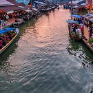 Floating Market Sunset by Adrian Evans